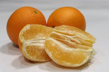 saftige Orangenspalten